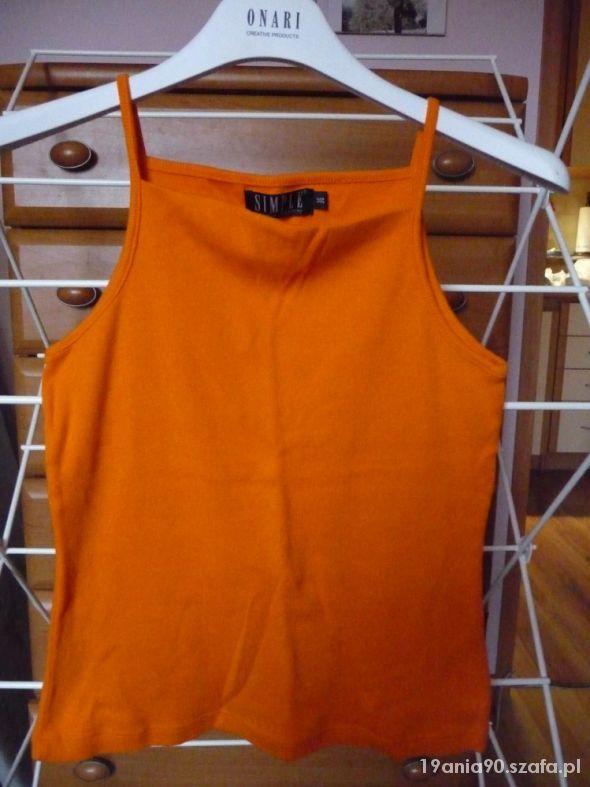 Pmarańczowy top Simple...
