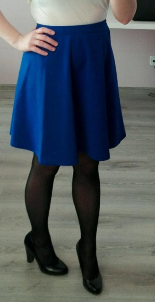Chabrowa elegancka spódnica rozkloszowana Butik...