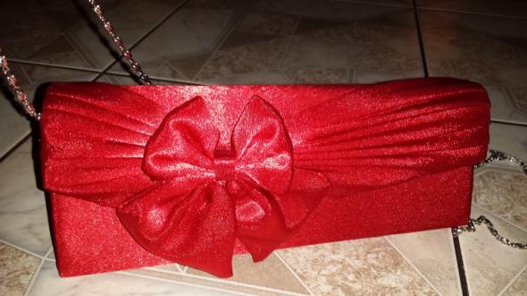 torebka weselna wieczorowa czerwona...