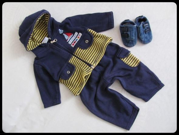 Komplet dla chłopca na 3 do 6 mies roz 62 i 68 bluza i spodnie