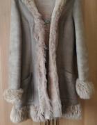 Kożuch kożuszek zimowy płaszcz skóra rozm 38...