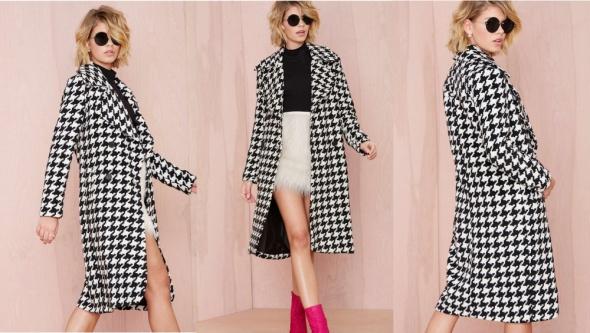 Płaszcz biało czarny Marks&Spencer
