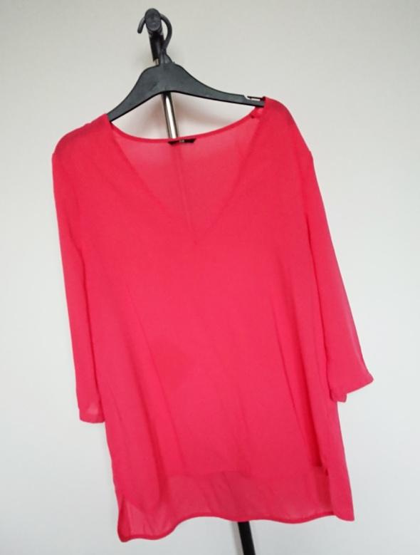 czerwona lekka bluzka H&M