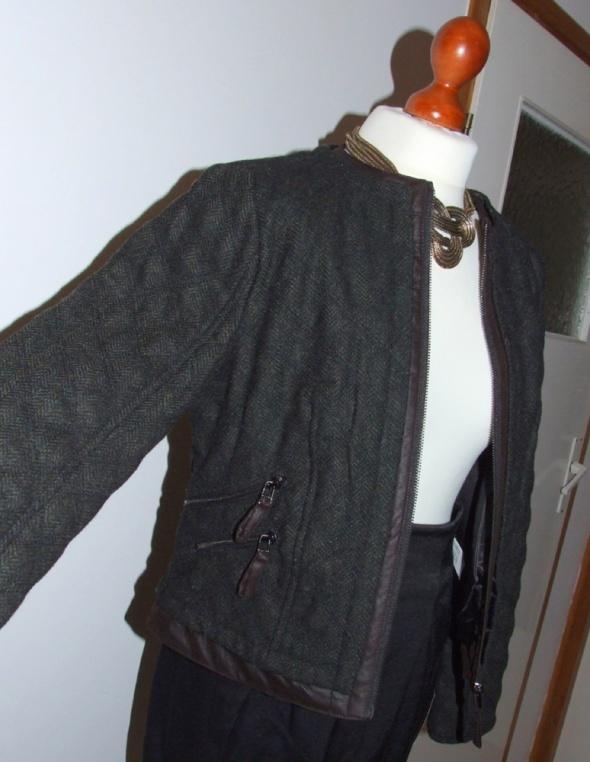 Nowa kurtka ZARA pikowana wełna