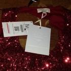 cekinowa sukienka bershka czerwona