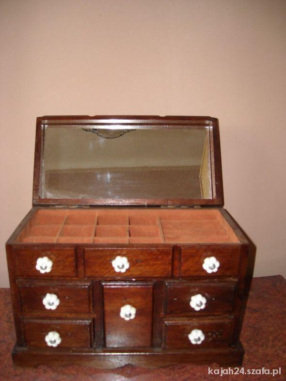 Skrzynka szkatułka pudełko na biżuterię