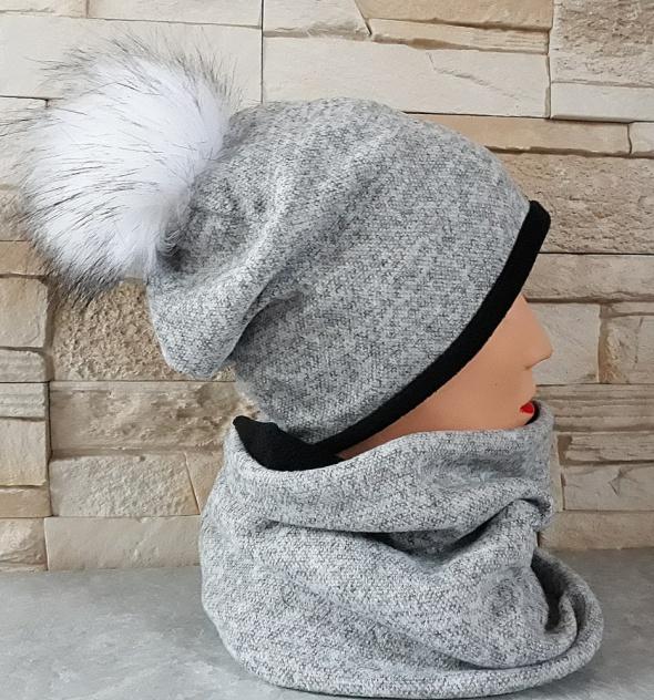 Komplet na polarze czapka komin