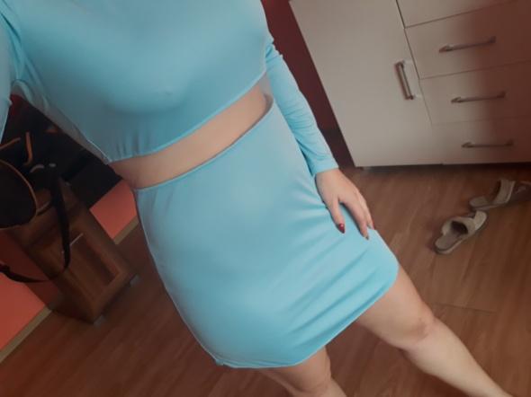 Sukienka turkusowa zip siateczki...