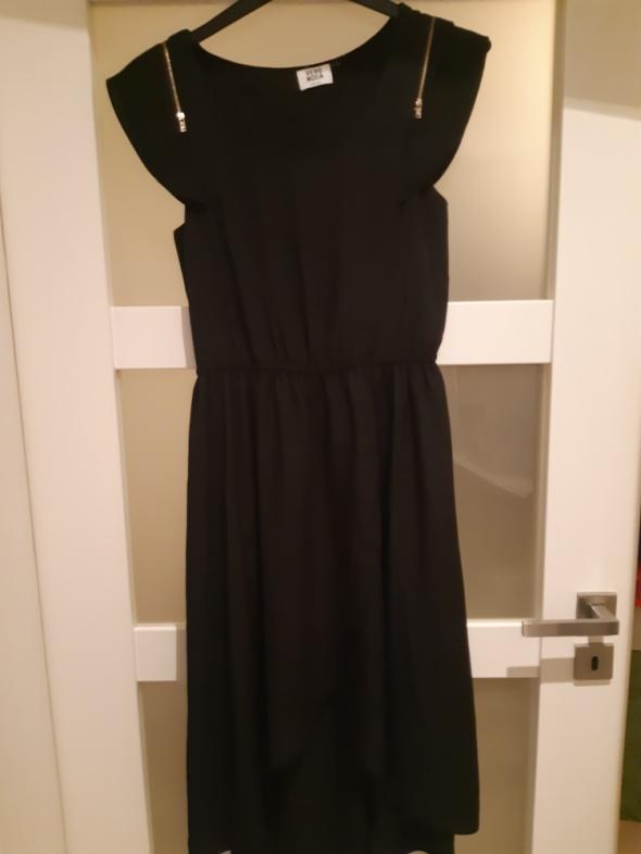 Czarna asymetryczna sukienka vero moda rozm 38 40...