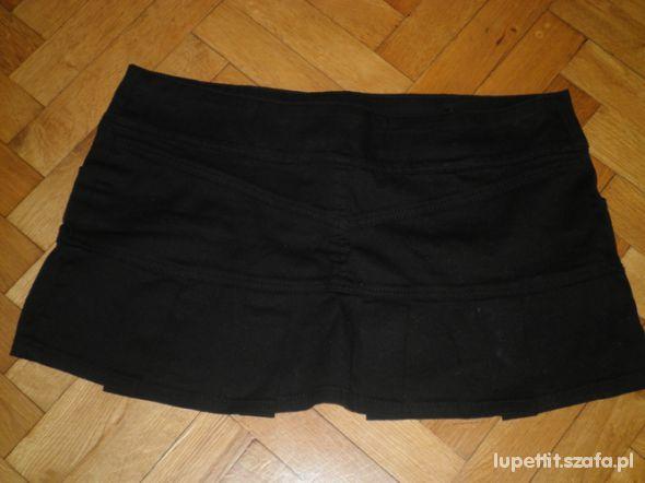 SEXY czatna plisowana spódniczka M
