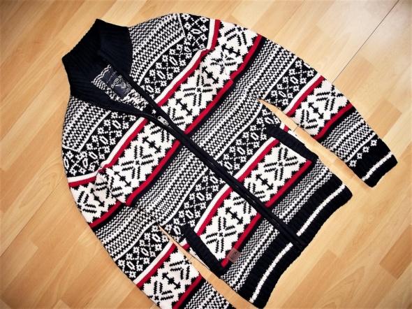 Angelo Litrico ciepły rozpinany sweter wełna M