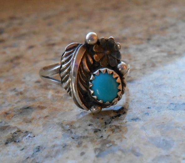Pierścionki Pierścionek Navajo srebro turkus