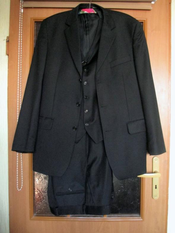 LANTIER garnitur 3 części czarny wełna 182na100na86