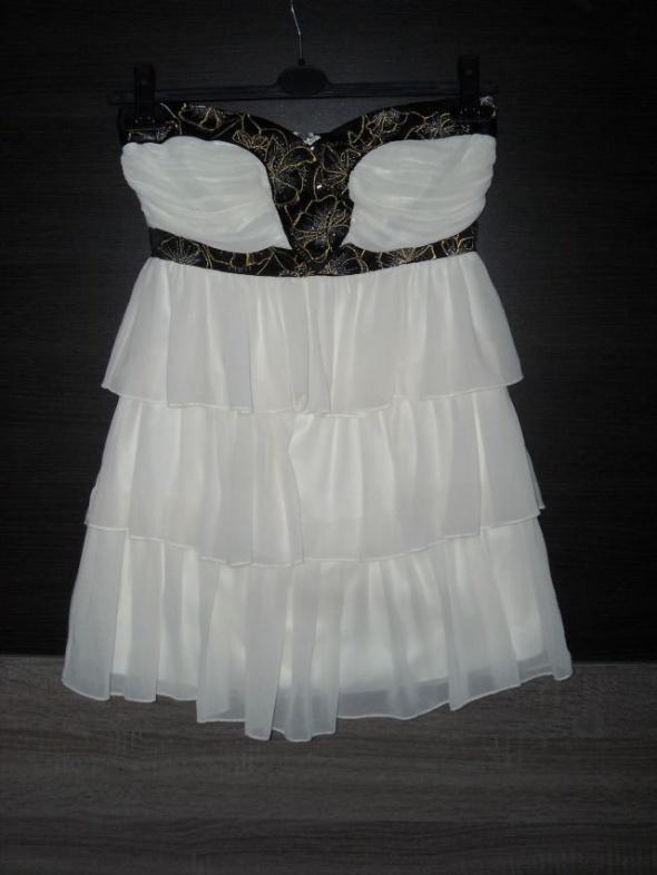 kremowa sukienka lipsy 10 m s...