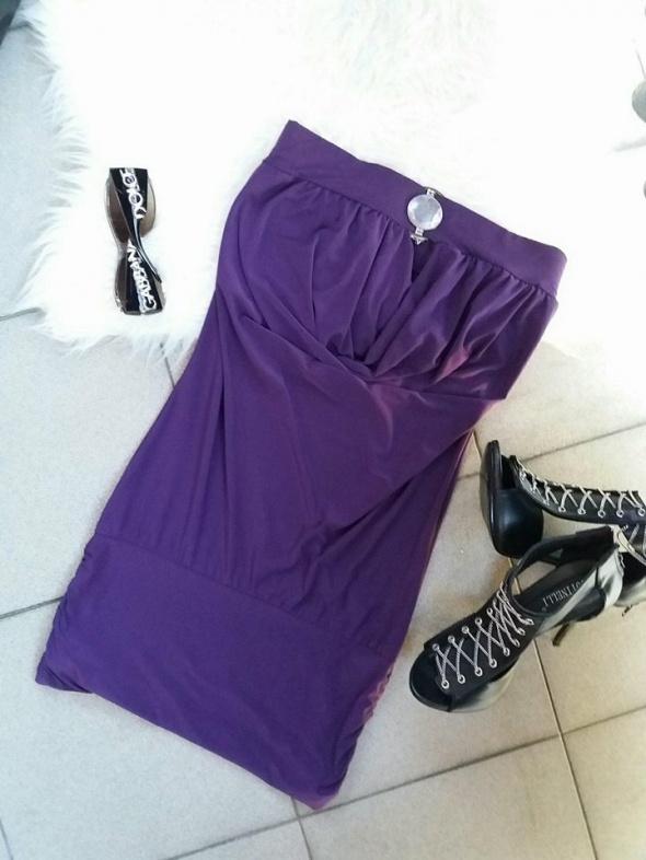 sukienka mini tuba fioletowa r uniwersalny S M