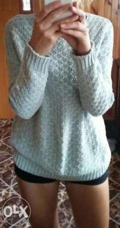 Sweter miętowy Bershka