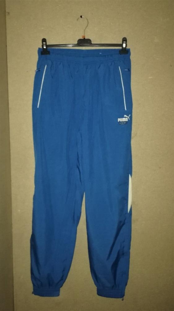 Puma Niebieskie spodnie sportowe ściagacze M