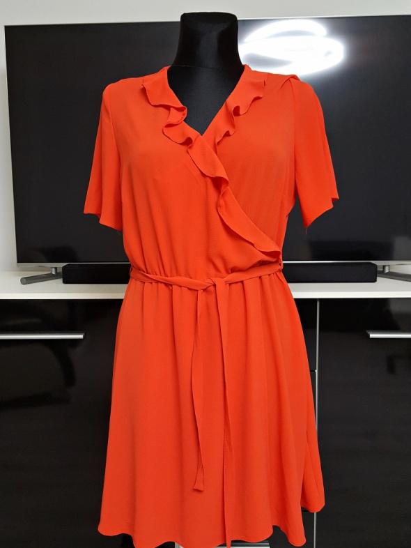 cba1aa26c9 czerwona sukienka z paskiem Papaya w Suknie i sukienki - Szafa.pl