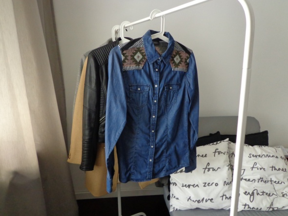 koszula jeansowa dżinsowa aztecka boho aztec S 36...