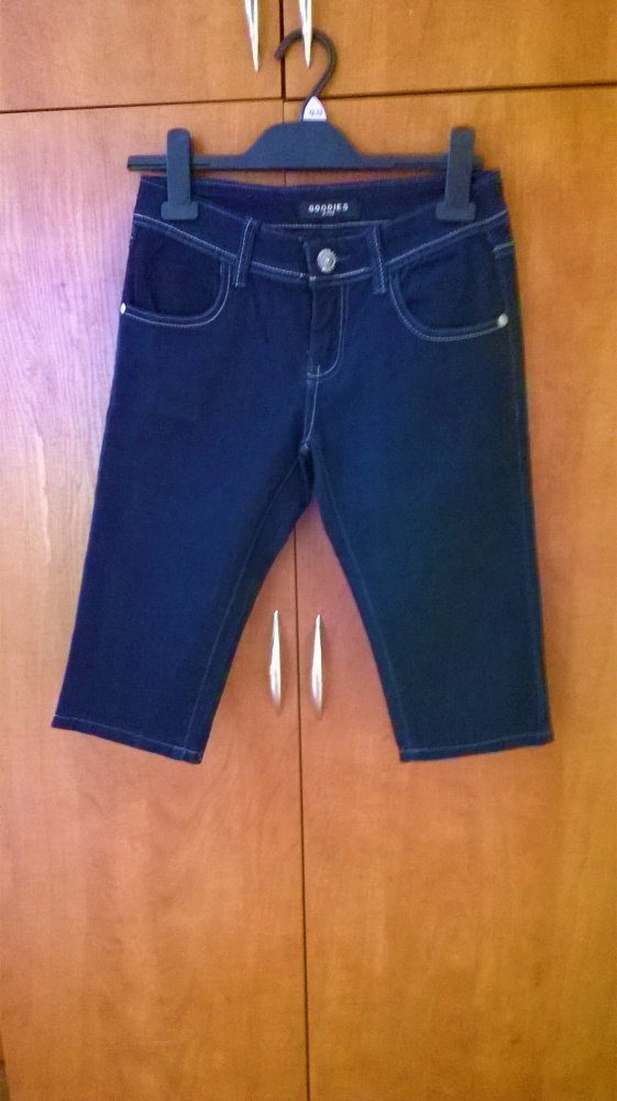 Spodnie do kolana jeansowe roz S