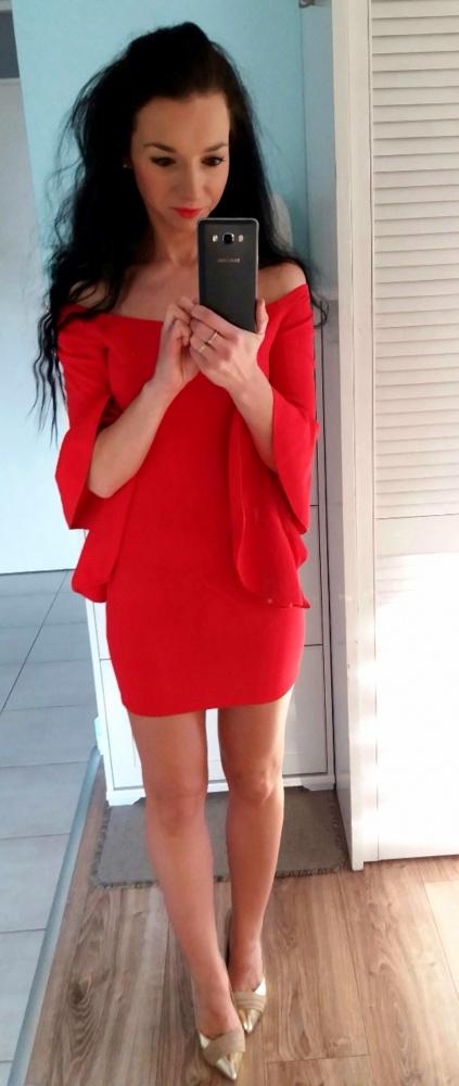 sukienka by Asos MSG xs 34 święta red