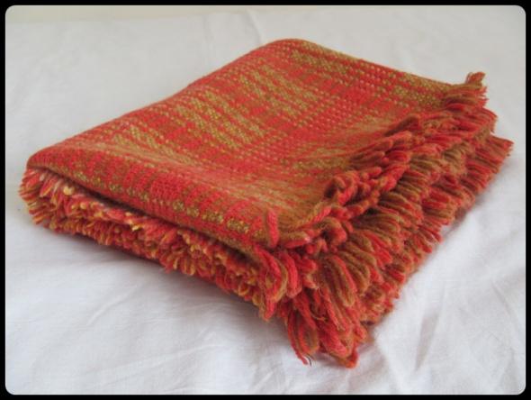 PLED narzuta koc materiał 55 x 132 cm czerwona krata
