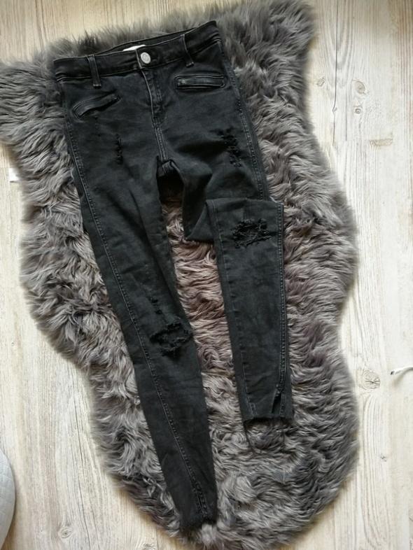 Spodnie rurki super skinny river island 34