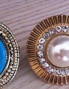 Primark Opia duży pierścień z perłą cyrkonie...