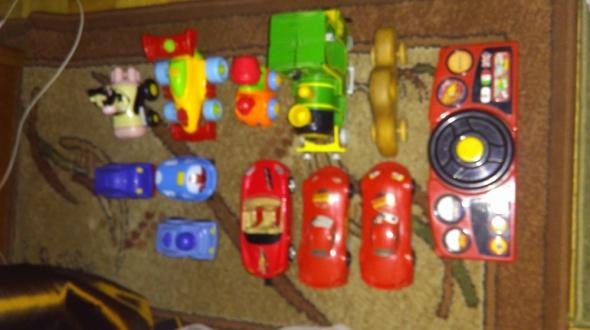 Zabawki Zestaw auta pojazdy