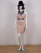 Czarno różowa sukienka Bershka Dressy Collection w rozmiarze S...