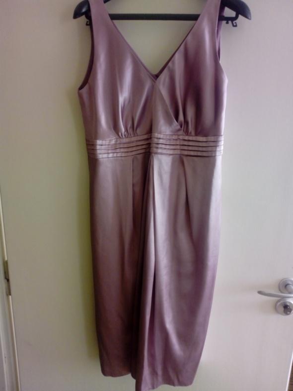 Sukienka ciążowa różowa 38 M 40 L elegancka wesele