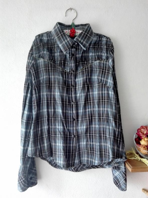 Niebieska koszula w kratę M