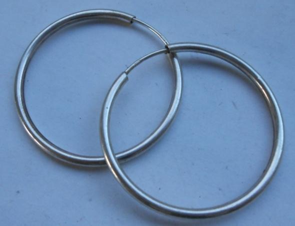 Kolczyki kółka srebro 925