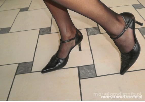 skórzane buty Ryłko 37 szpice...
