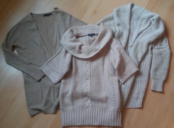 zestaw sweter kardigan warkocz narzutka moher 40 L