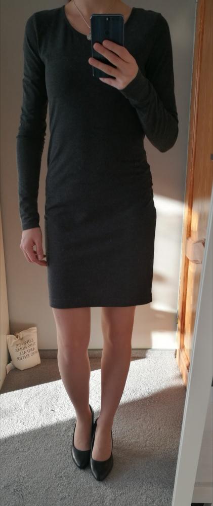 Szara sukienka H&M