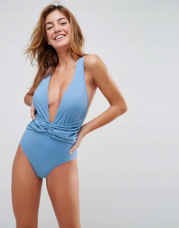 Kostium kąpielowy jednoczęściowy błękitny 38...