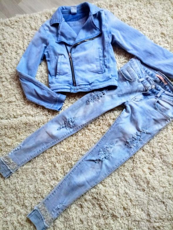 Zestaw spodnie i ramoneska