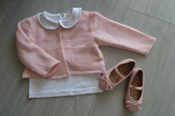 Komplet bluzka bolerko buciki