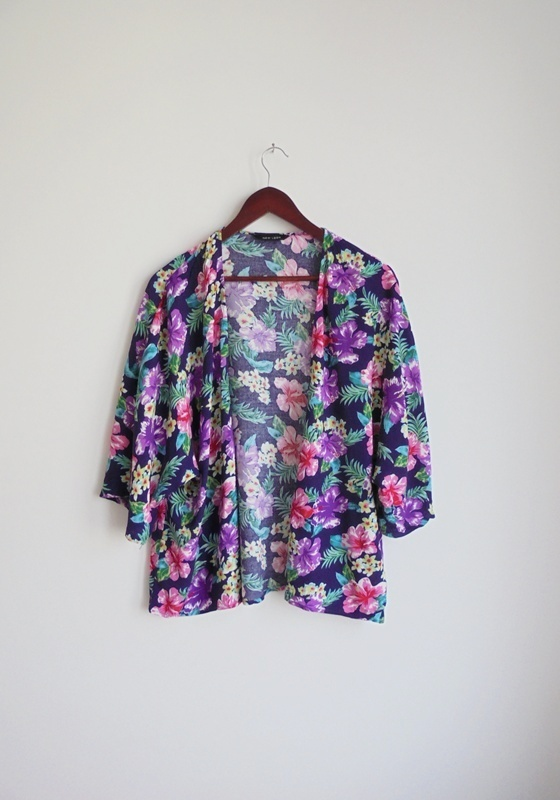 kimono kwiaty kolorowe