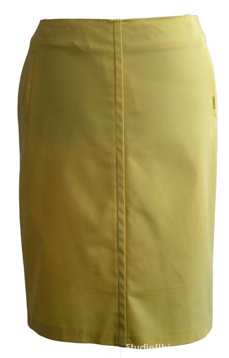 Spódnice Wiosenna spódnica kolor żóty pastel rozmiar 44