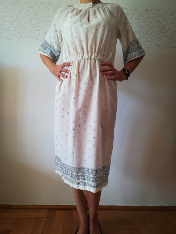 Oryginalna biała sukienka vintage