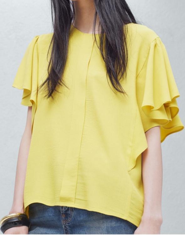 Żółta bluzka Mango S...