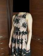 Sukienka MINI koronkowa rozkloszowana SEXY EMU S36...