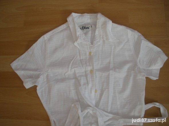 Bolerka bolerko białe krótka bluzka