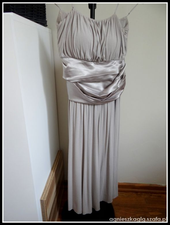 Sukienka popiel z kokardką Tiffi