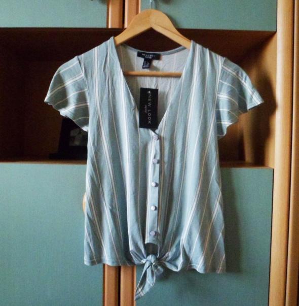Nowa z metką New Look bluzka wiązana w paski koszulka krótki rękaw