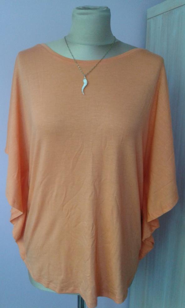 bluzka nietoperz pomarańczowa super