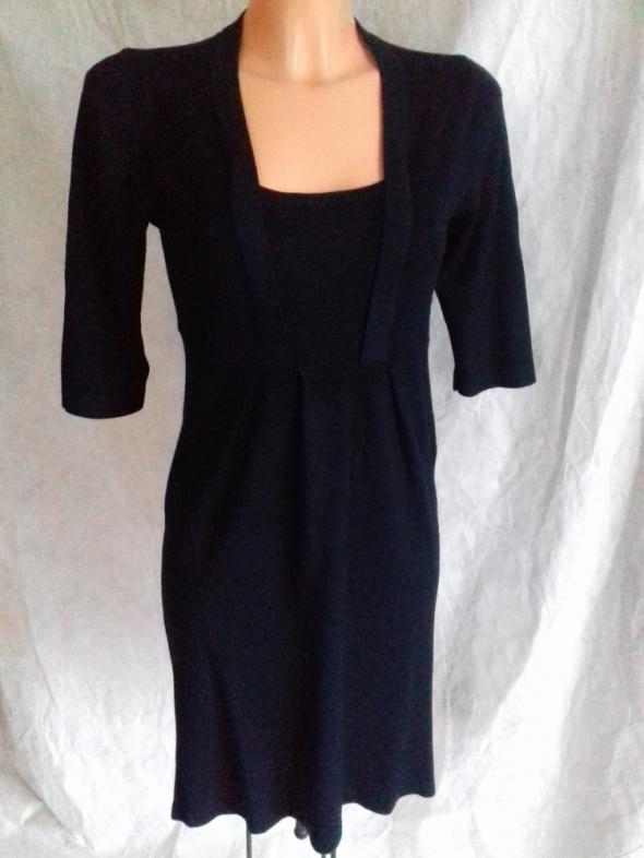 Granatowa elegancka sukienka JCL dzianinowa M