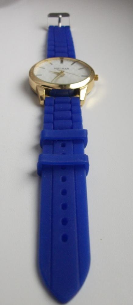 kobaltowo złoty zegarek damski